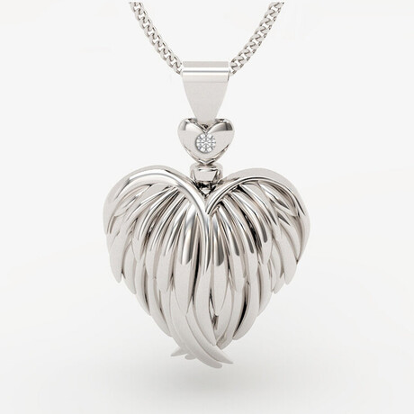 The Guardian Heart Necklace // Sterling Silver