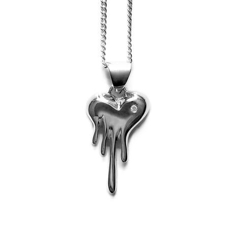 Mini Bloody Heart // Sterling Silver