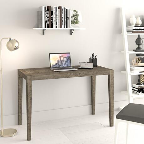 "Ashford // 47"" Reclaimed Wood Home Office Desk (Brown)"