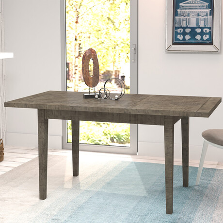 """Ashford // 62"""" Reclaimed Wood Rectangular Extension Dining Table (Brown)"""