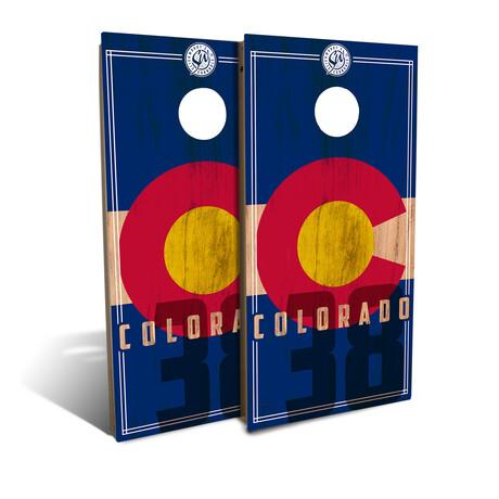 Colorado State Flag // Cornhole Board Set (Classic)
