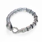 Dell Arte // Snake Chain Bracelet // Silver