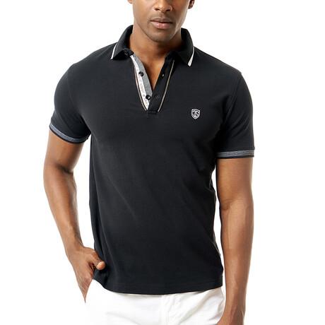 Petra Short Sleeve Polo // Black (S)