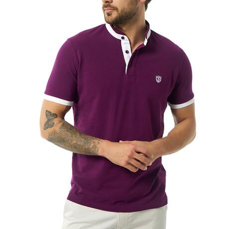 Themistoklis Short Sleeve Polo // Purple (S)