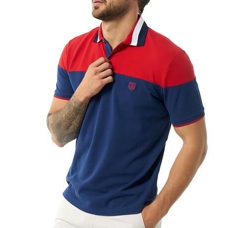 Bogdan Short Sleeve Polo // Navy (S)