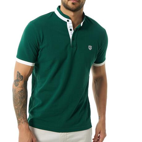 Themistoklis Short Sleeve Polo // Dark Green (S)