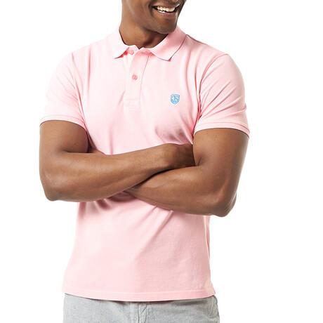 Valentina Short Sleeve Polo // Pink (S)
