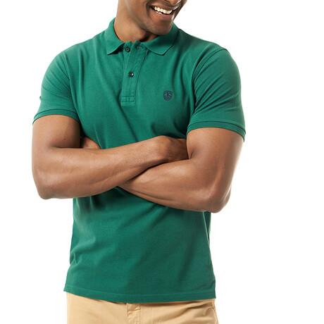 Valentina Short Sleeve Polo // Dark Green (S)