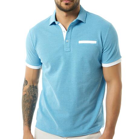 Tim Short Sleeve Polo // Baby Blue (S)