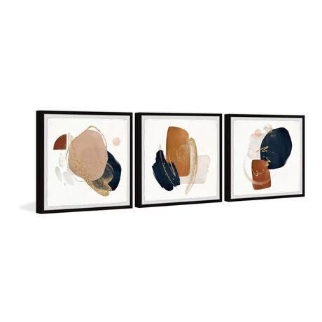 """Deviant Fragments Triptych (12""""H x 36""""W x 1.5""""D)"""
