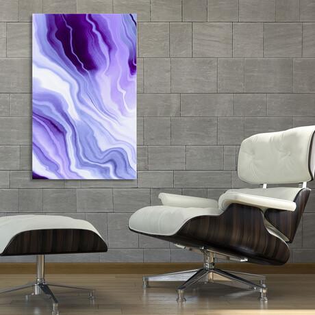 """Bright Purple Marbling (12""""H x 8""""W x 0.75""""D)"""