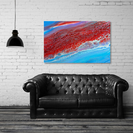 """Red Cells (8""""H x 12""""W x 0.75""""D)"""