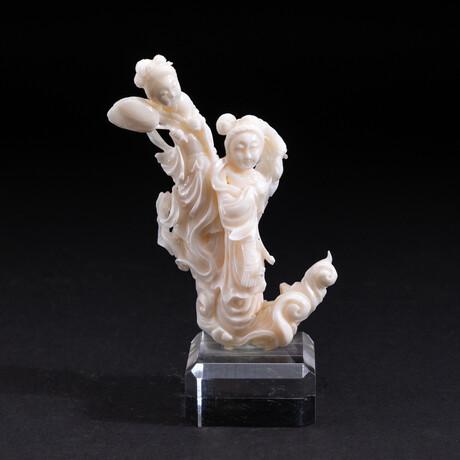 Genuine Angel Skin Coral Hand Carving // V2