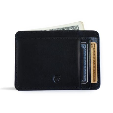 Front Pocket ID Wallet // Vegetable Tanned // Black