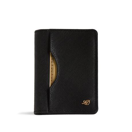 Long Slim Wallet // Saffiano // Black