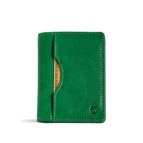 Long Slim Wallet // Vegetable Tanned // Green