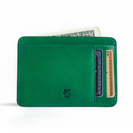 Front Pocket ID Wallet // Vegetable Tanned // Green