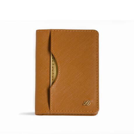 Long Slim Wallet // Saffiano // Caramel