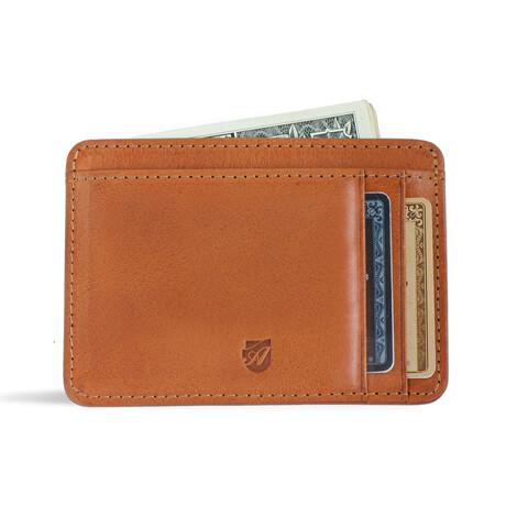 Front Pocket ID Wallet // Vegetable Tanned // Caramel
