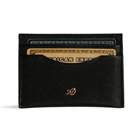 Ideal Card Wallet // Saffiano // Black