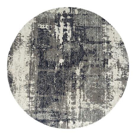 Modena Granite Gray Area Rug // Indoor + Outdoor // 8' Round