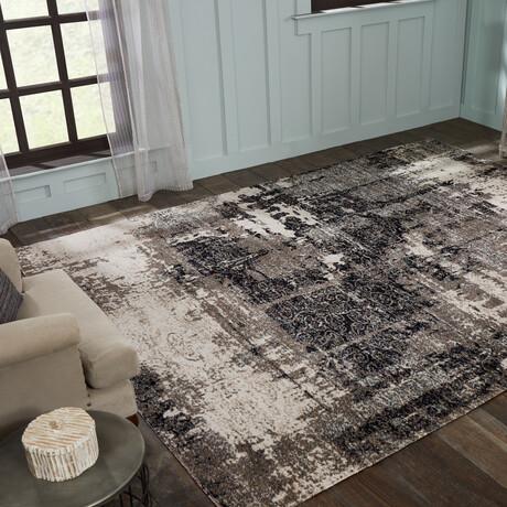 Modena Granite Gray Area Rug // Indoor + Outdoor (2' x 3')