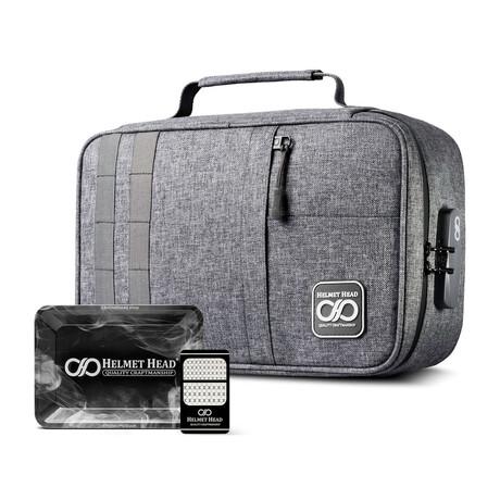 Xl Smell Proof Case // Kj33 Gray + Grinder Card