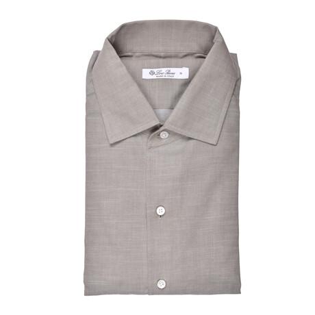 Aro Shirt // Brown + Gray (S)