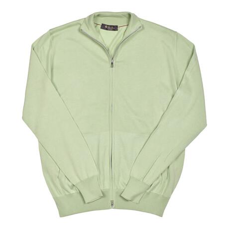 Emmett Silk Blend Sweater // Lime Green (Euro: 46)