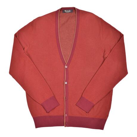 Baby Cashmere Sweater // Red + Orange (Euro: 46)