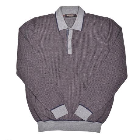 Carlisle Cashmere Sweater // Gray + Multicolor (Euro: 46)