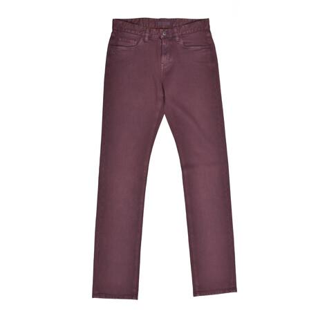 5-Pocket Jeans // Burgundy (31WX30L)