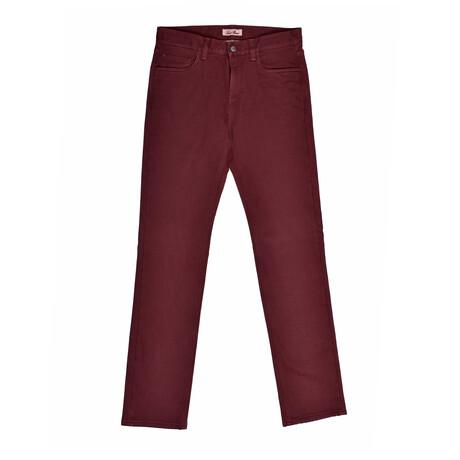 Jean Style Pants // Burgundy (31WX30L)
