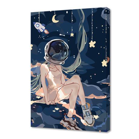 "Astronaut Miku (12""H x 8""W x 0.75""D)"