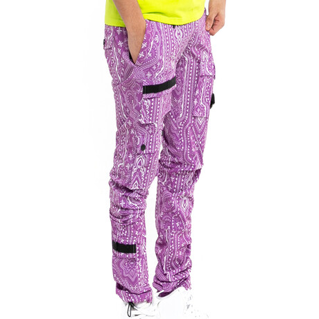 Printed Tactical Jogger // Purple (XS)