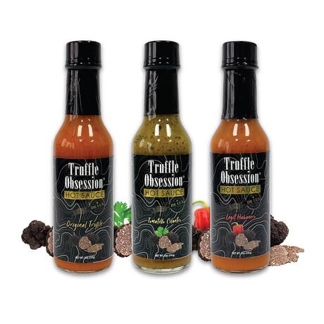 Variety Pack // Original Truffle, Tomatillo Cilantro + Legit Habanero // Set of 3 // 5 oz Each