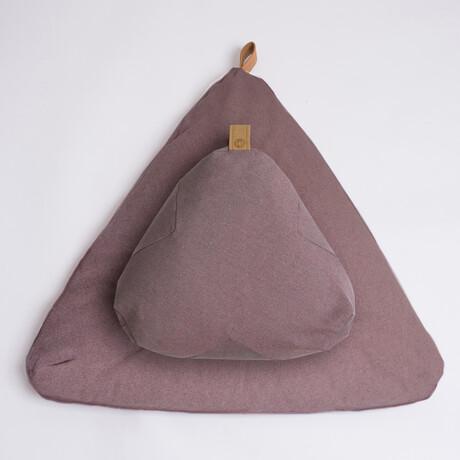 Organic Meditation Cushion Set // Floor + Support Pillows // Limited Edition Ash Rose