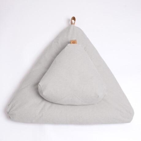 Organic Meditation Cushion Set // Floor + Support Pillows // Moonstone Gray
