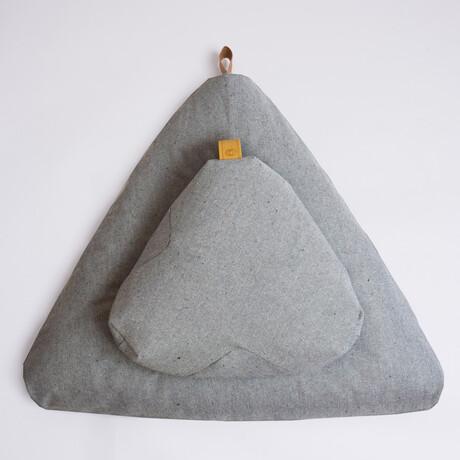 Organic Meditation Cushion Set // Floor + Support Pillows // Limited Edition Ash Gray