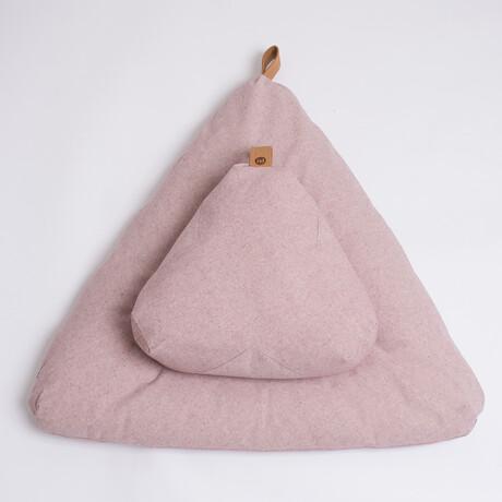 Organic Meditation Cushion Set // Floor + Support Pillows // Rosewood