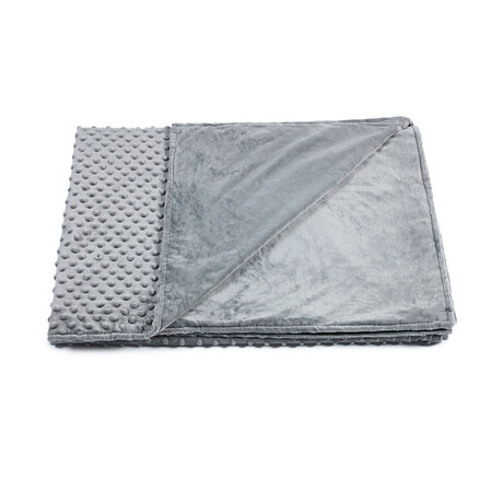 """Minky Dot Duvet Cover for Weighted Blanket (60""""L x 80""""W)"""