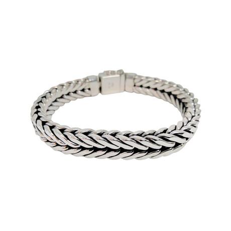 Men's Arrow Link Bracelet // Silver