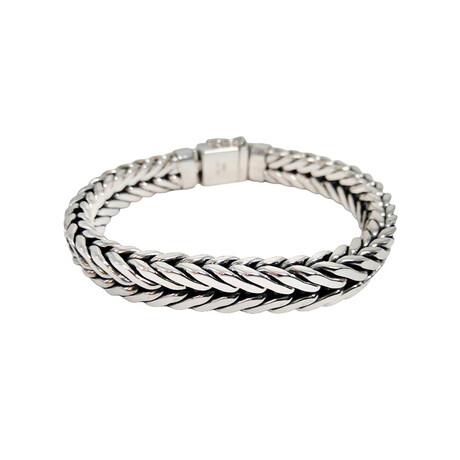 Men's Extra-Wide Arrow Link Bracelet // Silver