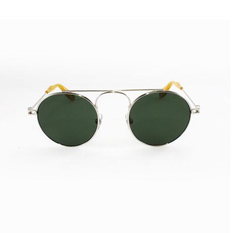 Givenchy // Unisex Round Aviator Sunglasses // Palladium + Green