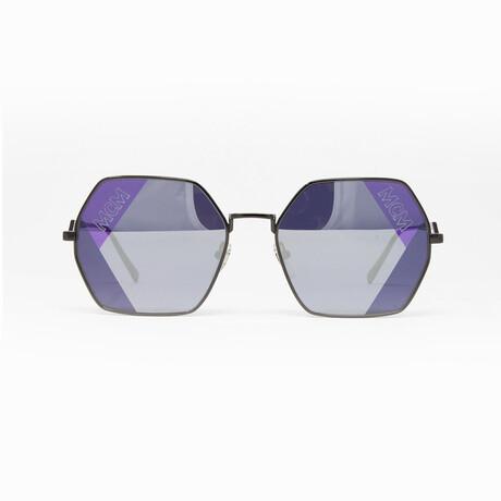MCM // Unisex Sunglasses // Dark Nickel + Gray Black Mirror
