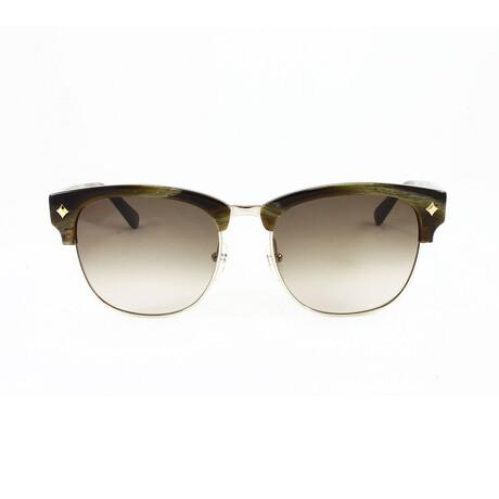 MCM // Unisex Clubmaster Sunglasses // Khaki Horn + Gray Gradient