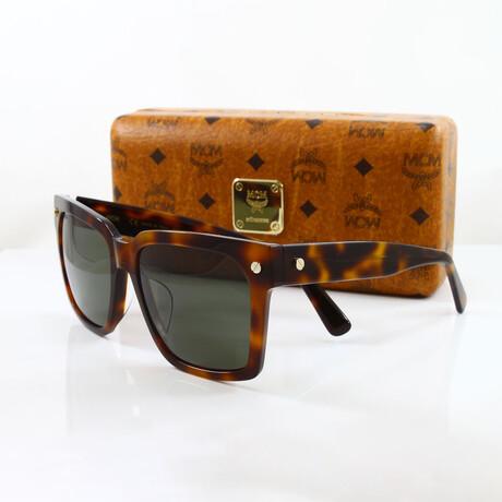 MCM // Unisex Oversized Square Sunglasses II // Havana + Green