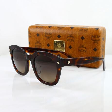 MCM // Unisex Oversized Sunglasses // Tortoise + Dark Brown Gradient