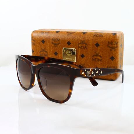 MCM // Unisex Oversized Sunglasses // Tortoise + Brown Gradient