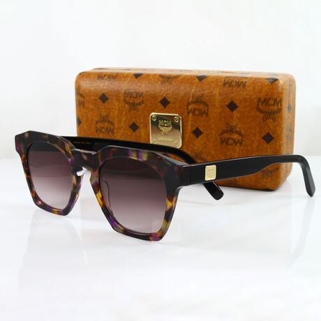 MCM // Unisex Oversized Modern Sunglasses // Havana Violet + Violet Gradient